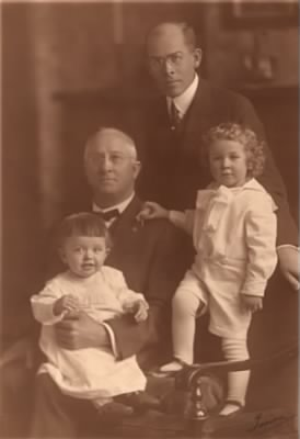 Harris Collingwood with father Charles, and sons Charles & Tom