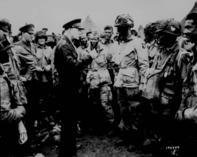 """""""Gen. Dwight D. Eisenhower gives the order of the Day. 'Full victory-nothin"""