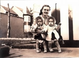 Idonna Callister with the Twins in 1944