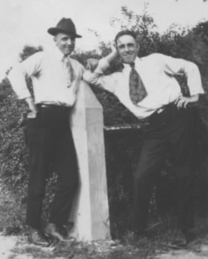 Frank Smith & Clayton Batchelor c 1922