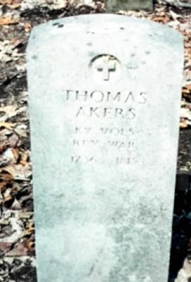 Thomas Akers' Grave, Heil Cemetery