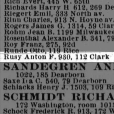 1899 Chicago, Cook, IL City Directory