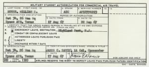 Emergency Leave Standby Authorization (August 17, 1967)