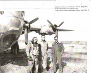 Winson with B-24 Bomber in Italy