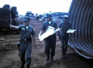 Inspection by the I Corps ARVN Engineer and CPT. Long of 101st.