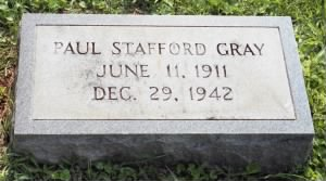Paul S Gray's tombstone picture