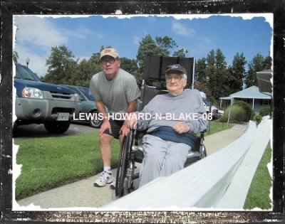 Howard Irving LEWIS at age 90, with his only son. Howard was my father. - Fold3.com