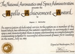 Apollo 11 Achievement award