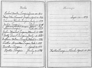 Turpin Family Bible Page 1