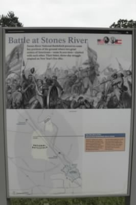 A Plaque at Stone River Battlefield