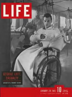 """George Lott, ""Casualty"" - cover story in Jan. 29, 1945 LIFE"
