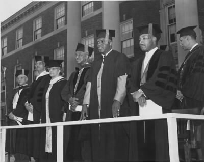 Jackie Robinson and Martin Luther King Jr at Howard University.jpg - Fold3.com