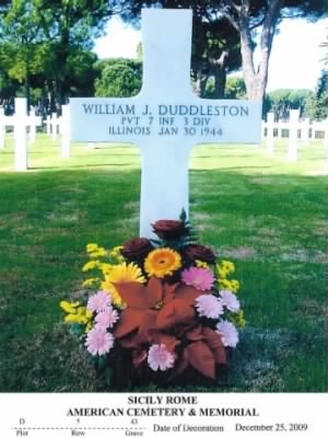 Headstone - PVT William Joseph Duddleston