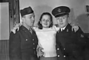 Lt Fred (AAC-Pilot), sister Marilyn and brother Paul, Us Navy.