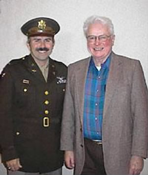 "Lt Robert ""Bob"" Stangier,RIGHT, with Bob Murstig"