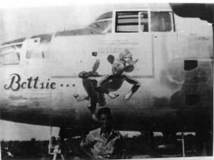 "310thBG,380thBS, Lt Edward Betts, Jr. His Ship, B-25 Bettsie, the Cow"" B-25 /MTO"