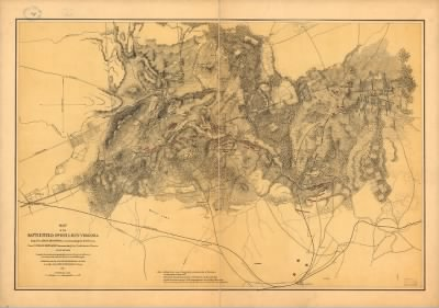 Map of the battlefield of Bull Run, Virginia. Brig. Gen. Irvin McDowell commanding the U.S. forces, Gen. [P.] G. T. Beauregard commanding the Confederate forces, July 21st 1861 Compiled from a map accompanying the report of B › Page 1 - Fold3.com