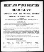 Street And Avenue Directory (p. 1)