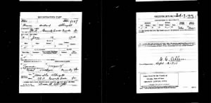 Bruce Willard Albright - World War I Draft Registration Card