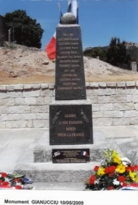 Monument on Corsica for the Ship Loss 10 May, 1944/Top of mountain