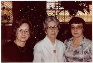 Annie Molero Chaplain (center) with her daughters, Peggy Martinez & Anna Guerra