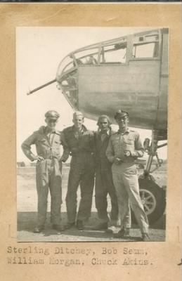Sterling with his Pilot and Crew. 1944