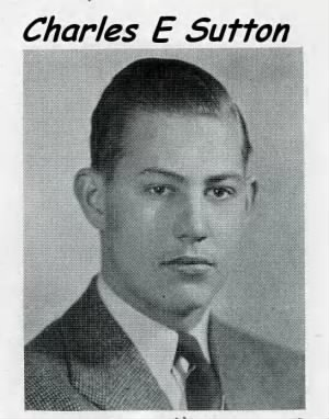 Charles E Sutton, 1940 High School Portrait.