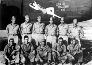 "310th Bomb Group, 380th Bomb Squad, ""Worth Fighting For"" #42-53451 19 Aug.'43"