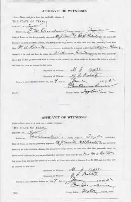 Roberts, William Widows Confederate Pension Application Texas 003.jpg