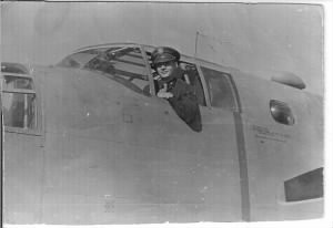 Capt Bugbee in his B-25 Combat Ship /MTO, 65 Combat Missions.