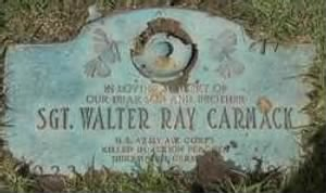Walter Ray Carmack's Headstone/Memorial