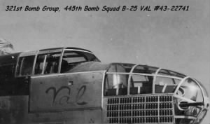 S/Sgt Ben Kuykendall was an Engineer/Gunner on the B-25 VAL #43-27741 321stBG,445thBS
