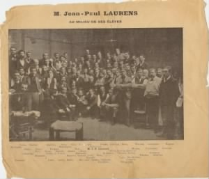 Paul de Launay, 1900 Class Photo at the Julien Academy, Paris.