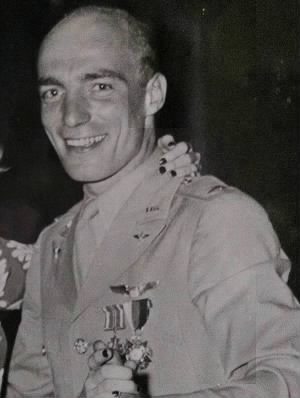 Col Bill Bower at his wedding to Lorraine...1942.