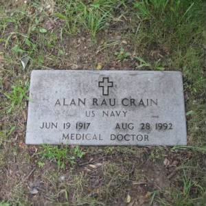 Grave of Alan Rau Crain