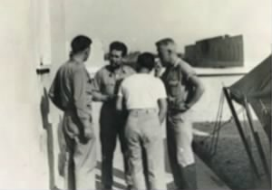 "321stBG,448thBS, Lt ""Sandy"" Thompson (far-right) Mission Briefing, 1945"
