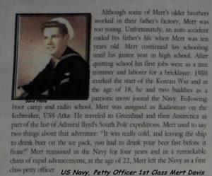 US Navy (KOREA) Petty Officer 1st Class Mert Davis