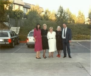 Ina, Valarie, Aunt Helen, Alma and Ivan Eugene Smith