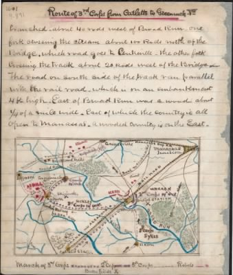 Route of 3rd Corps from Cattlet's to Greenwich, Va.. - Page 1