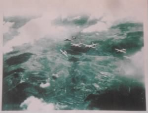 The actual moment that the Ship took the direct hit and is seen truning in and down.