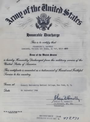 Is this Discharge Papers c1944? draft here