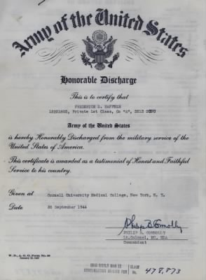 Honorable Discharge 1944