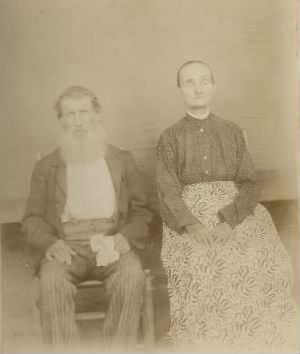 Levi Annison Adams and wife Mary Ann Hobbs Adams