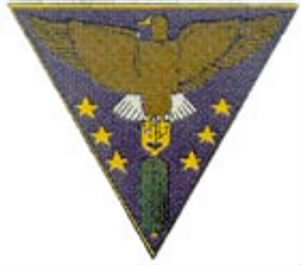 "Frank served in the 310th Bomb Group (THIS IS THE) ""380th Bomb Squad Emblem"""