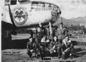 B-25 Combat Crew, Armiger Jagoe, kneeling right with 310th BG, 428th BS, MTO