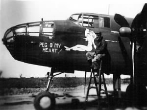 "George's main B-25 Combat Ship was the ""Peg O' My Heart"""