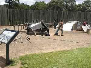 re-enactors at the Camp Sumter prison site, Andersonville, Georgia