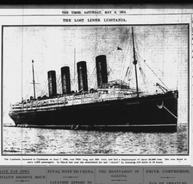 The Lost Liner Lusitania