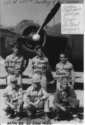 B-25 Combat CREW Members of the 321st BG, 447th BS