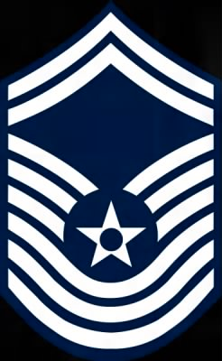 THis is the Chevron that CMSGT Shank would have worn (now obsolete)